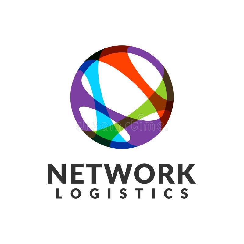 Embleem van het netwerk het logistische bedrijf Digitaal Web, Snelheid, Marketing, Netwerkpictogram Technologieembleem Technologi stock foto