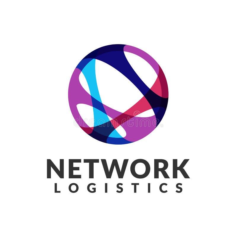 Embleem van het netwerk het logistische bedrijf Digitaal Web, Snelheid, Marketing, Netwerkpictogram Technologieembleem Technologi royalty-vrije stock fotografie