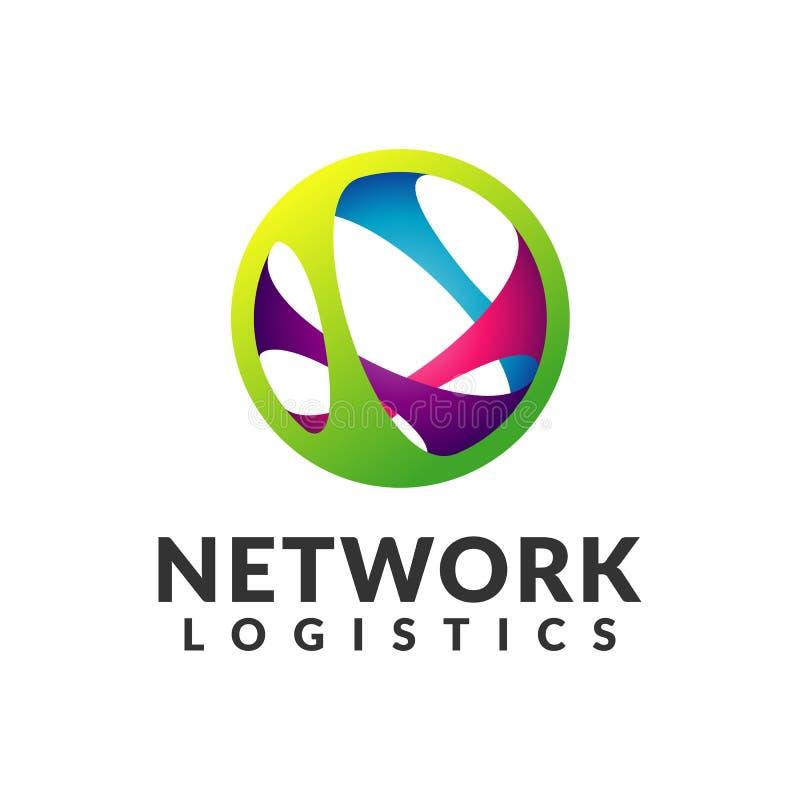 Embleem van het netwerk het logistische bedrijf Digitaal Web, Snelheid, Marketing, Netwerkpictogram Technologieembleem Technologi stock afbeeldingen