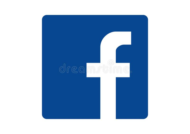 Embleem van het sociale netwerk Facebook royalty-vrije illustratie