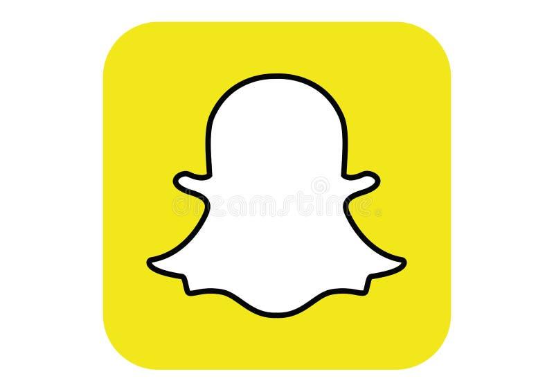 Embleem van het sociale netwerk Snapchat stock fotografie