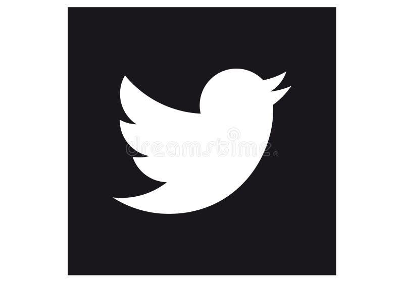 Embleem van het sociale netwerk Twitter vector illustratie