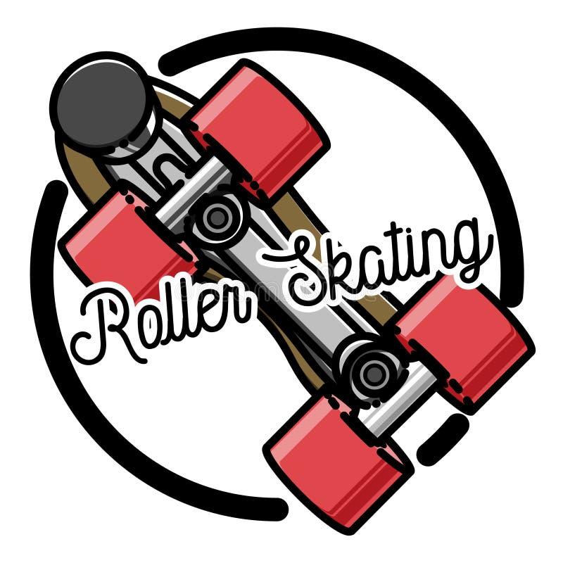 Embleem van kleuren het uitstekende rolschaatsen stock illustratie