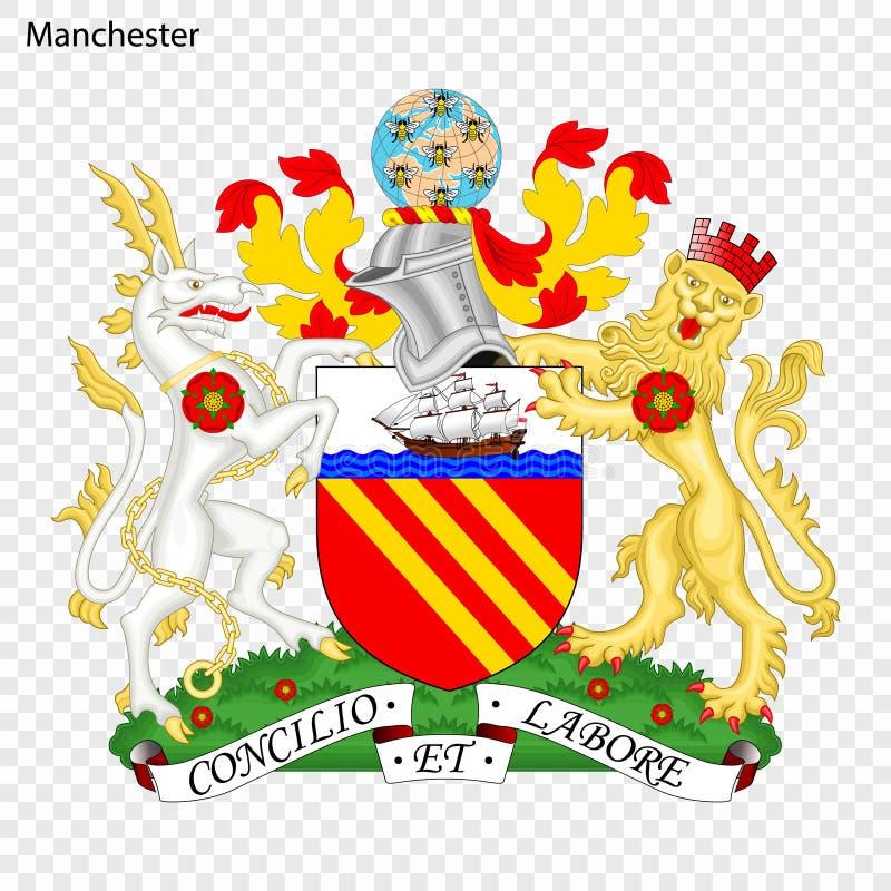 Embleem van Manchester stock illustratie