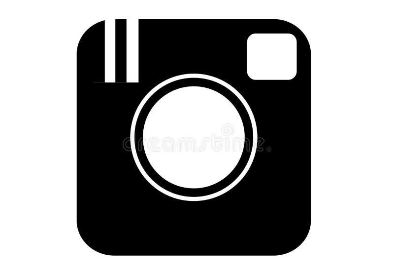Embleem van oude Instagram app vector illustratie