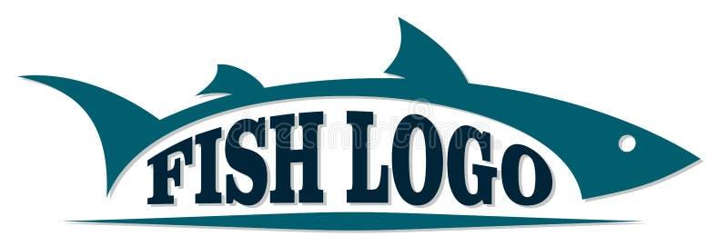 Embleem van overzeese vissen royalty-vrije illustratie