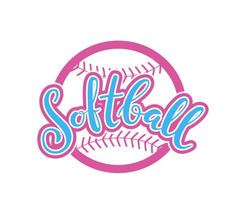 Embleem van softball Grafisch Ontwerp royalty-vrije illustratie