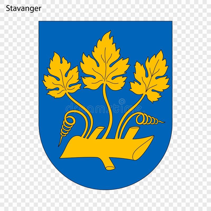 Embleem van Stad van Noorwegen royalty-vrije illustratie