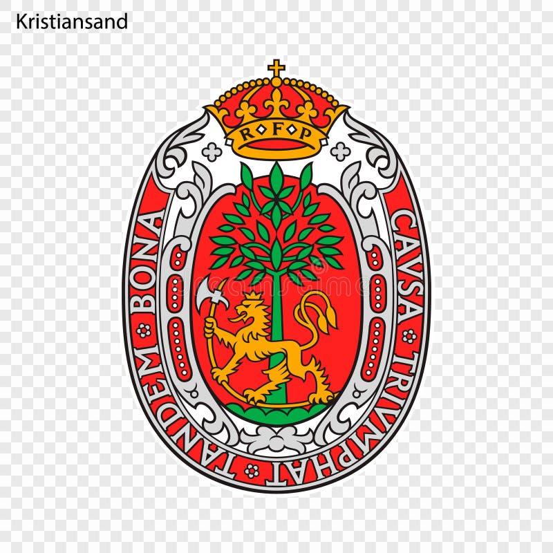 Embleem van Stad van Noorwegen vector illustratie