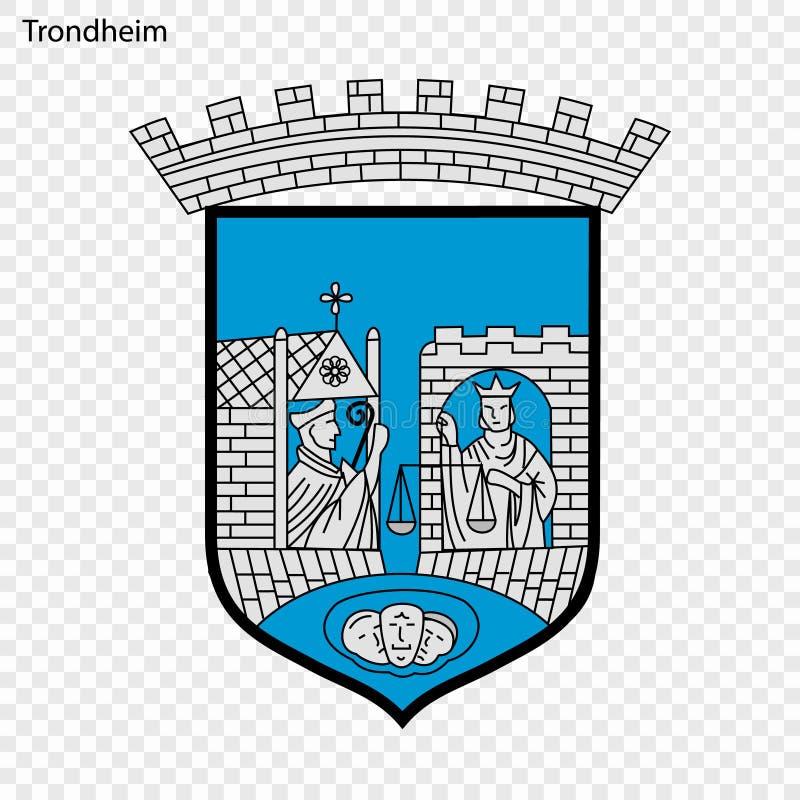Embleem van Stad van Noorwegen stock illustratie
