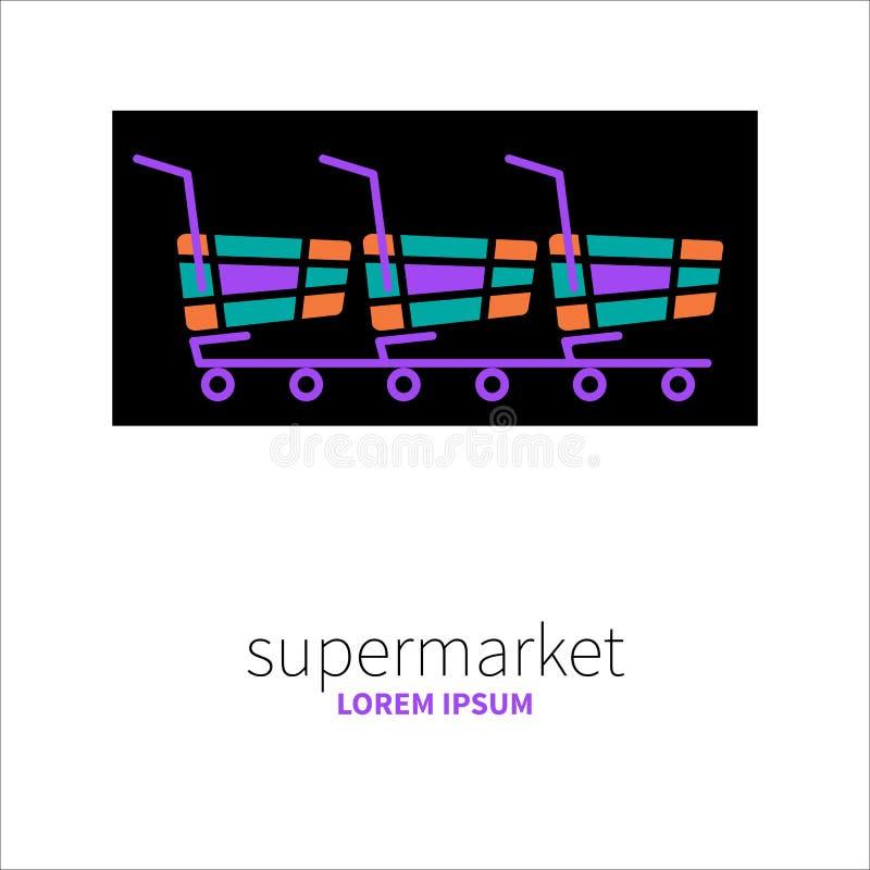 Embleem van supermarkt royalty-vrije illustratie
