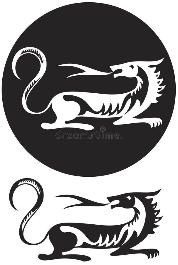 Embleem van tijger stock illustratie