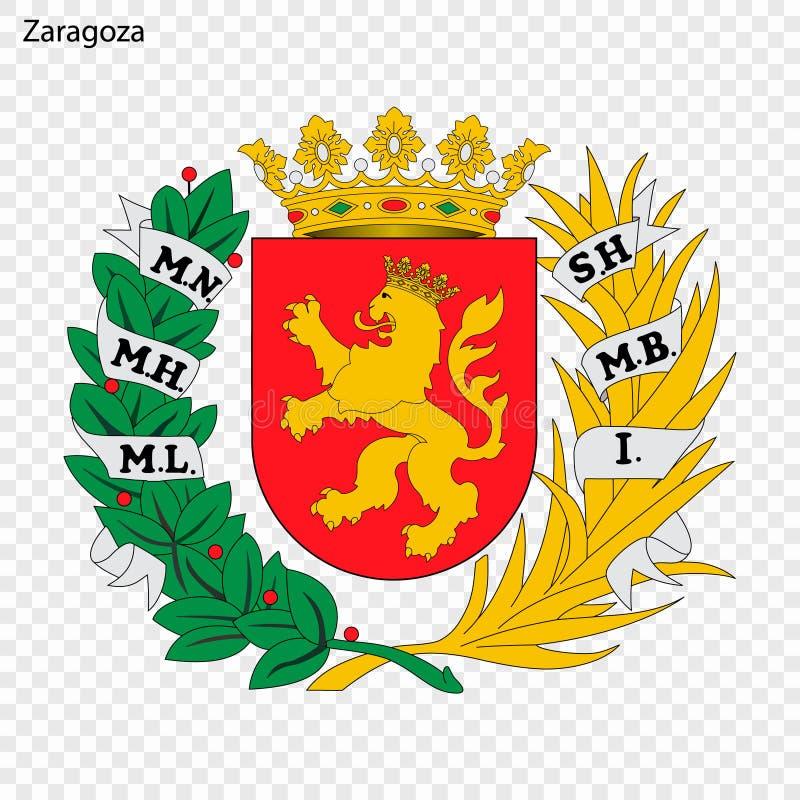 Embleem van Zaragoza Stad van Spanje stock illustratie