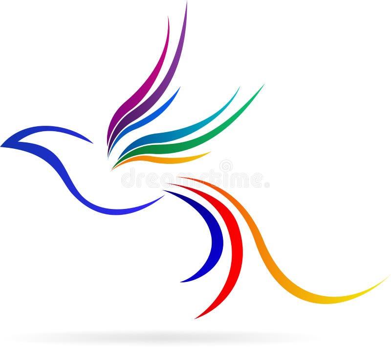 Embleem vliegende vogel stock illustratie