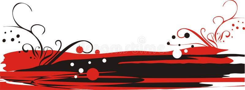 Embleem voor adreskaartjes. Rood en zwarte stock afbeeldingen
