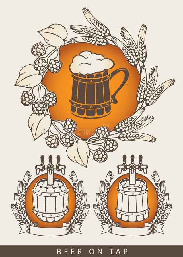 Embleem voor bieren stock illustratie