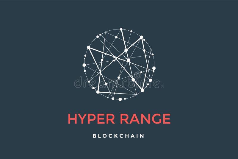 Embleem voor blockchaintechnologie royalty-vrije illustratie