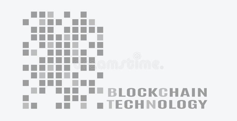 Embleem voor blockchaintechnologie stock illustratie