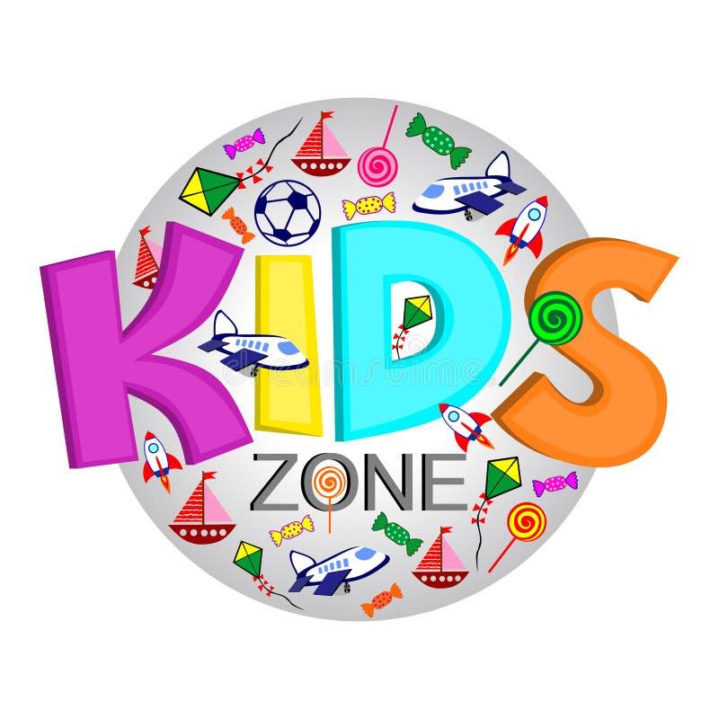 Embleem voor de organisatie van de kindontwikkeling royalty-vrije illustratie