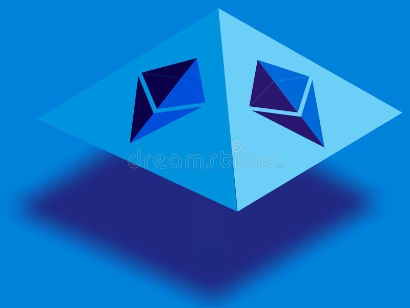 Embleem voor Ethereum verwante zaken stock illustratie