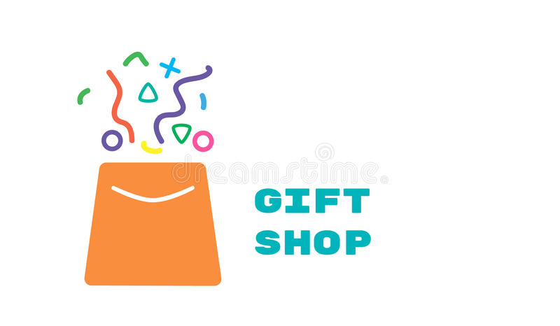 Embleem voor giftwinkel royalty-vrije illustratie