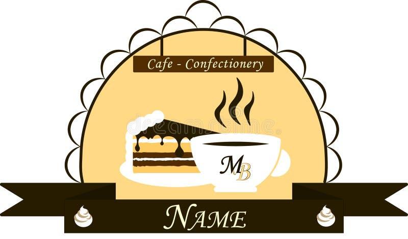 Embleem voor koffie - banketbakkerij stock foto's