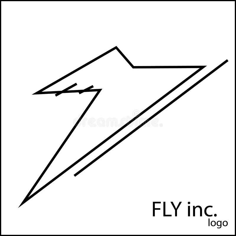 Embleem voor vliegtuig, vliegtuig royalty-vrije illustratie