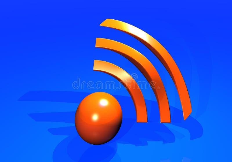 Embleem wi-FI stock illustratie