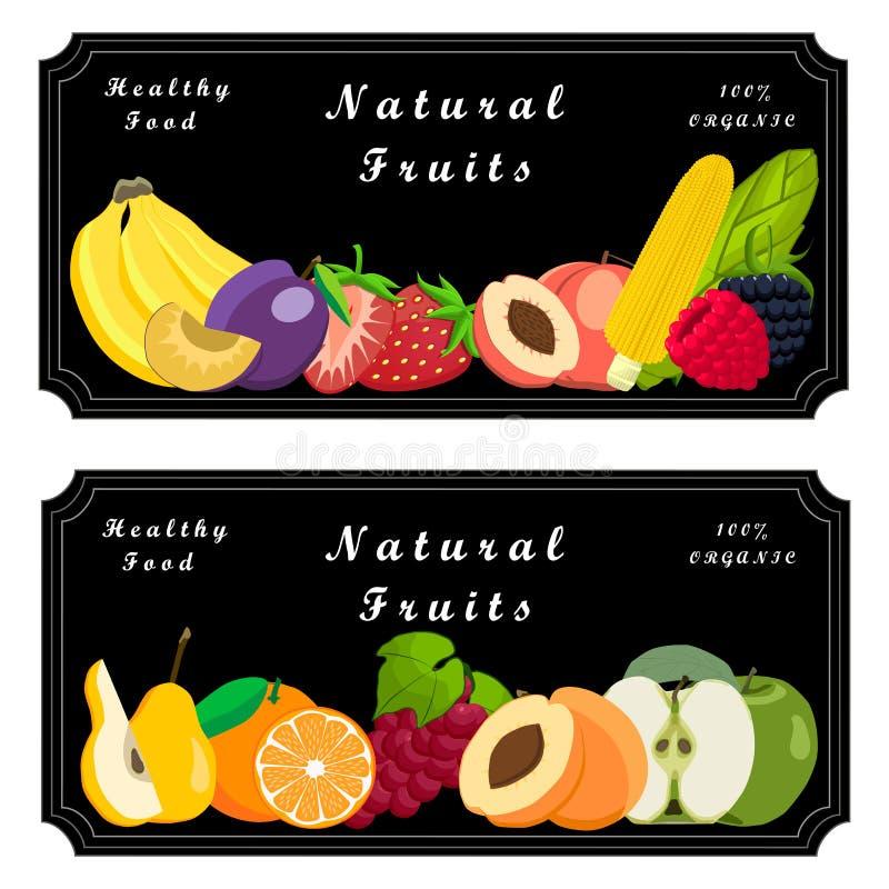 Embleemfruit stock illustratie