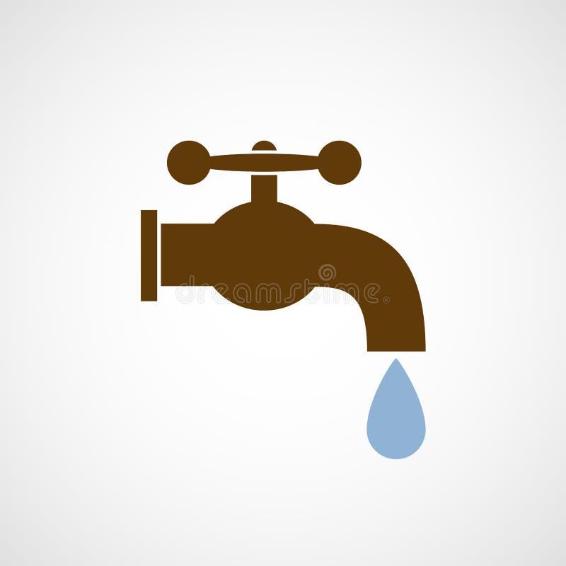Embleemkraan met een daling van water royalty-vrije illustratie