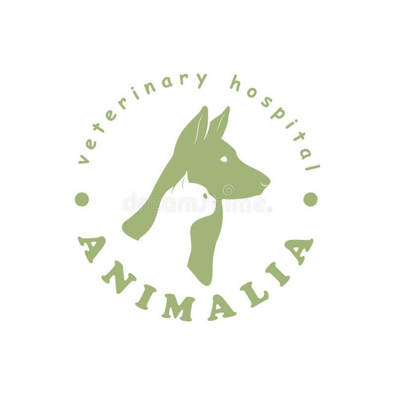Embleemmalplaatje voor veterinaire kliniek stock illustratie