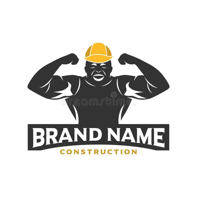 Embleemontwerp van bouwvakkers stock illustratie