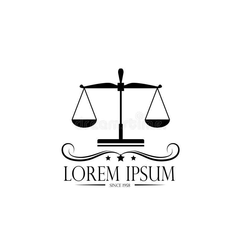 Embleemschalen en kroon embleem van een notaris, een advocaat, een symbool van rechtvaardigheid en wet stock illustratie