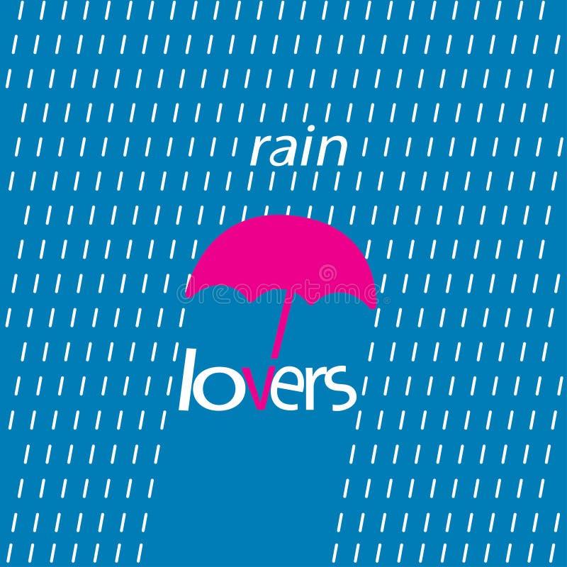 Embleemtype blauwe regenminnaars royalty-vrije stock afbeeldingen
