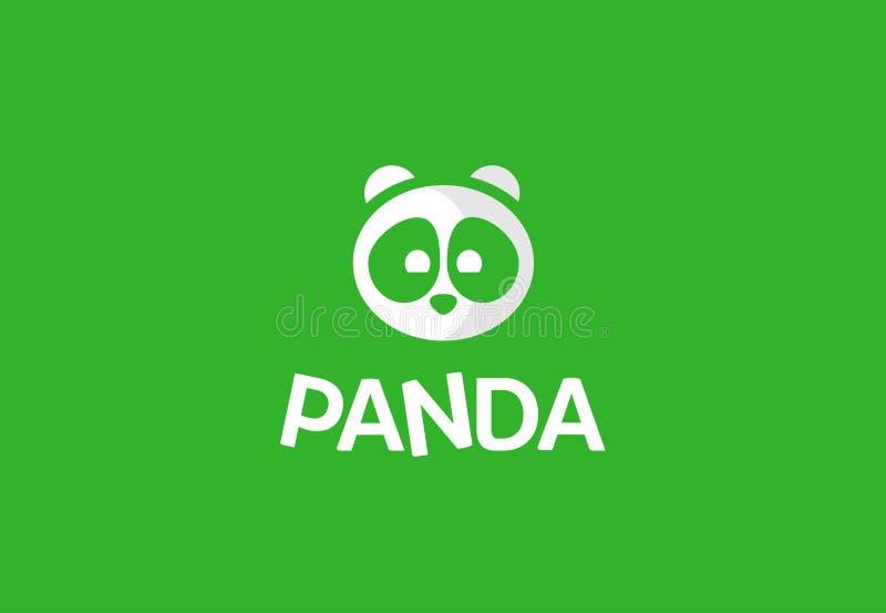 Embleemvector met panda royalty-vrije stock afbeelding