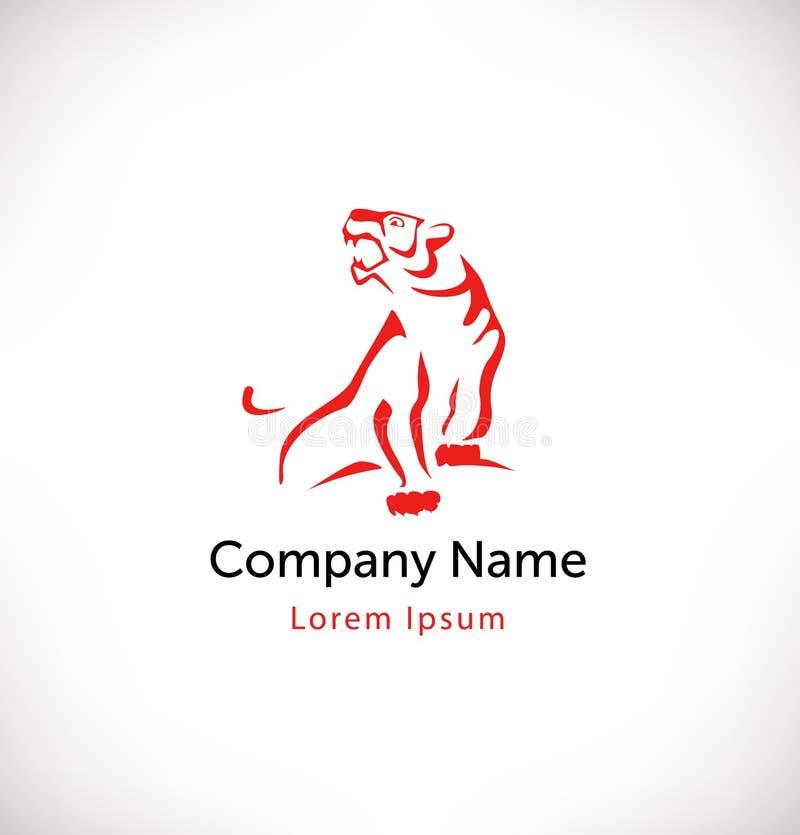 Embleemvector met tijger Geïsoleerd pictogram, teken, logotype concept vector illustratie