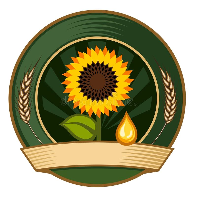 Download Emblem stock vector. Image of sunflower, illustration - 13622732
