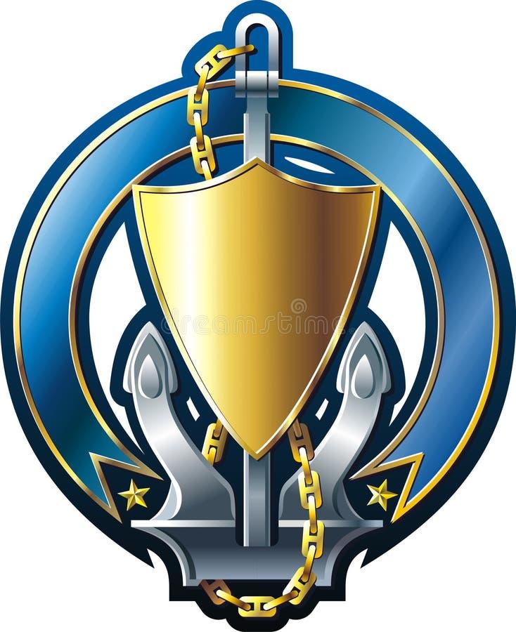 Download Emblem stock vector. Illustration of marine, badge, blue - 9762972