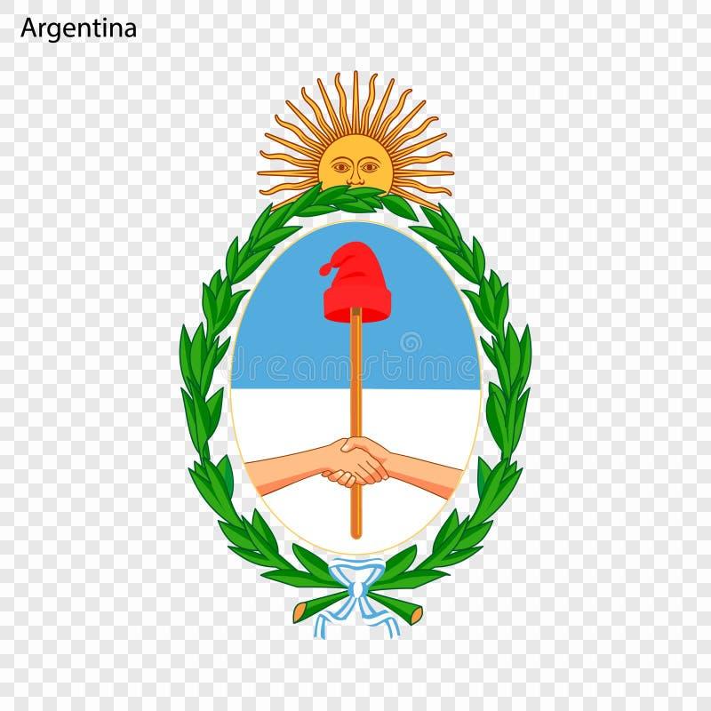 Emblem of Argentina. National Symbol royalty free illustration