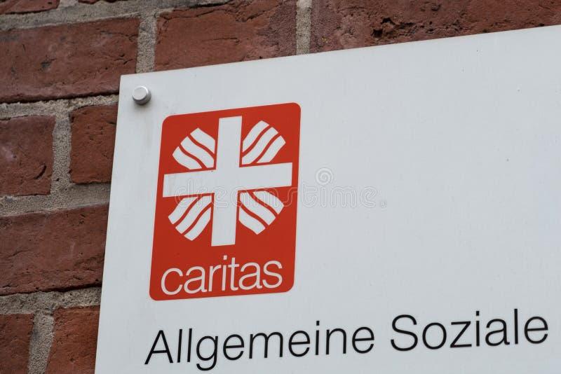 Emblem av den tyska anslutningen Caritas arkivbilder