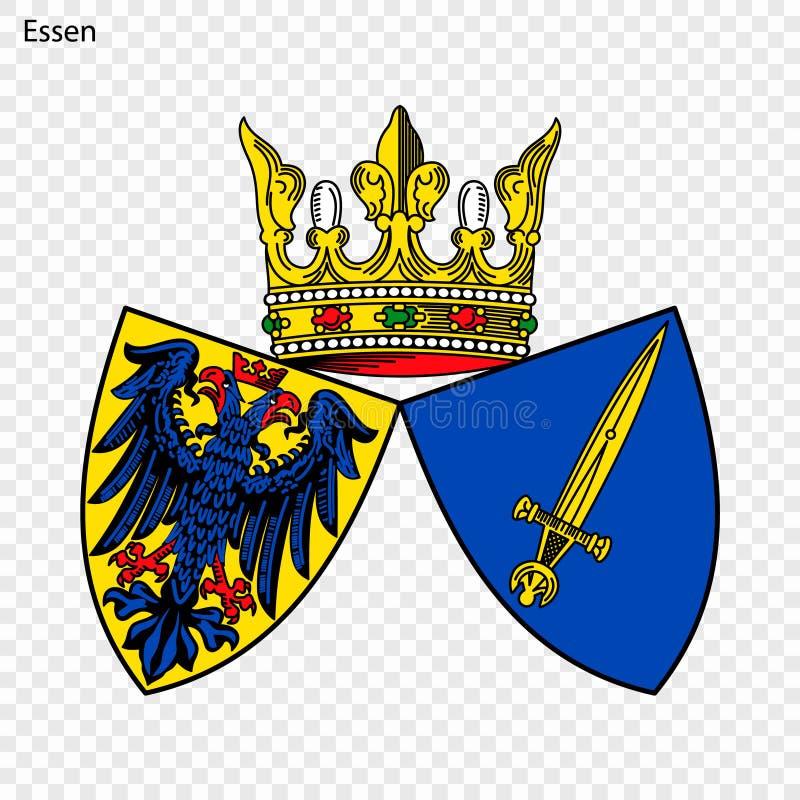 Emblem av Essen stock illustrationer