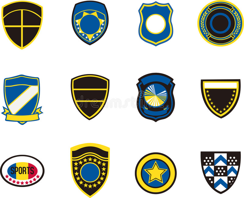 Emblem badges stock photos