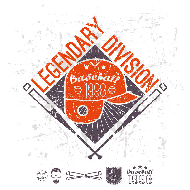 Download Emblem Baseball Legendary Division Of College Stock Vector