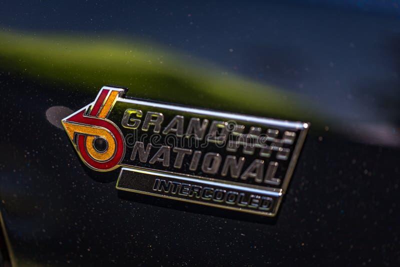 Emblem 1987 Buicks Grand National lizenzfreie stockfotografie