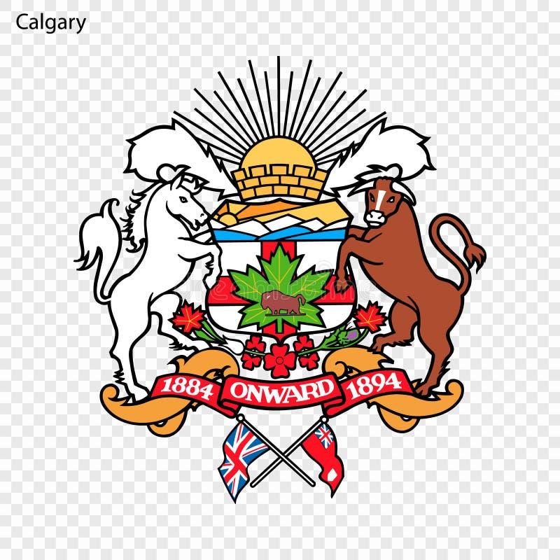 Emblem of Calgary. City of Canada. Vector illustration vector illustration