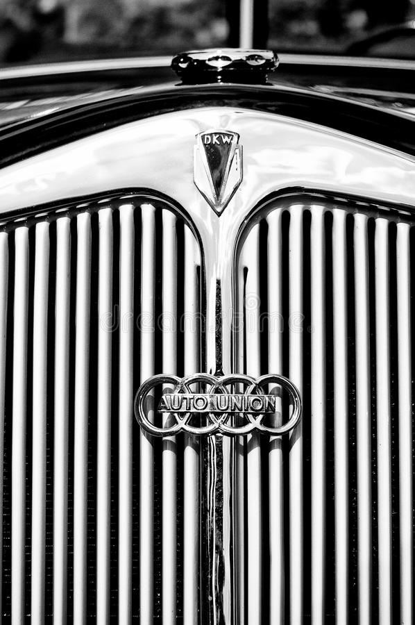 Download Emblem Of The Car DKW (Auto Union) Editorial Image - Image of black, sign: 22627580