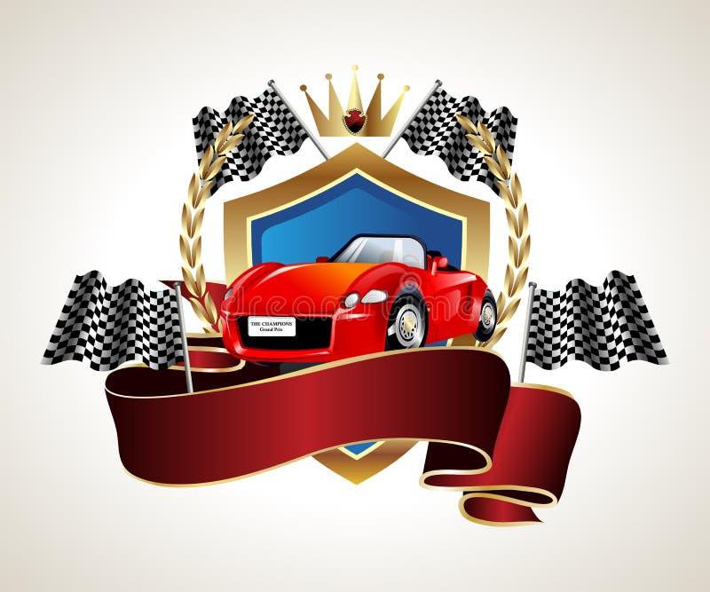 Download Emblem Car Racing Championship Stock Illustration - Illustration of crossed, arms: 23510906