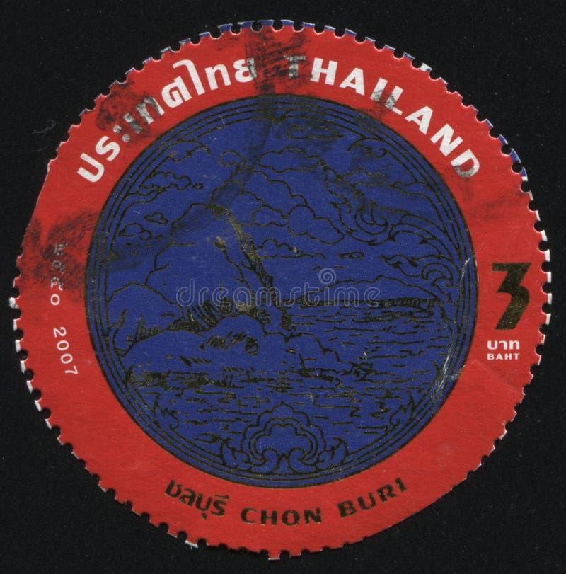 Emblem of Chon Buri stock photo