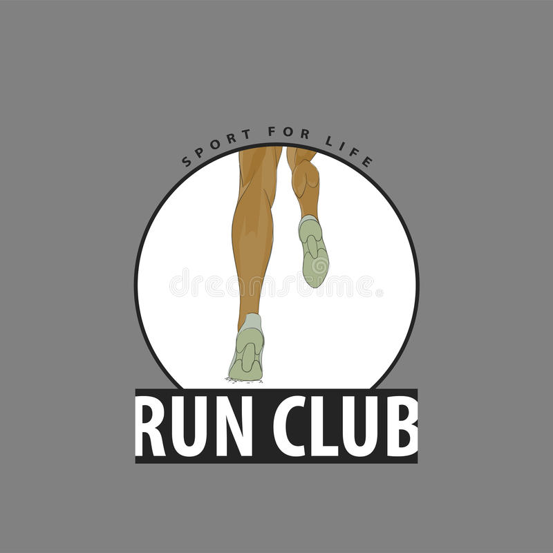 Emblem for club runners stock illustration