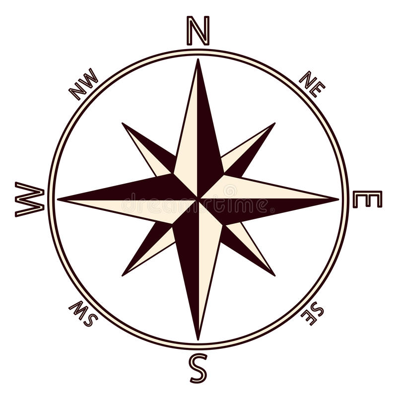 the emblem of the compass rose stock vector illustration of rose rh dreamstime com compass rose vector art compass rose vector art
